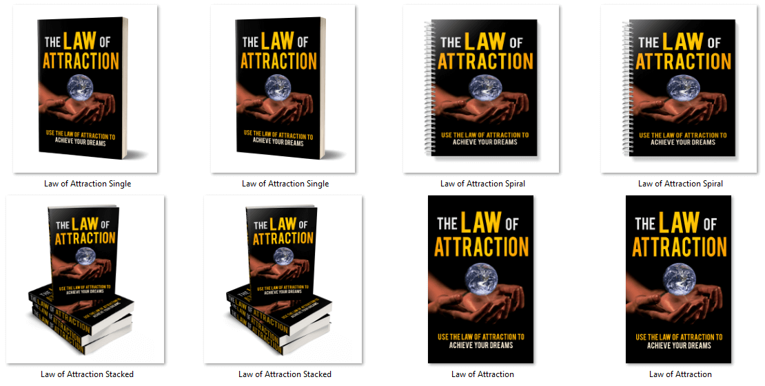 Law of Attraction PLR Report eCover Graphics