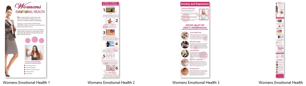 Women's Emotional Health PLR Infographics