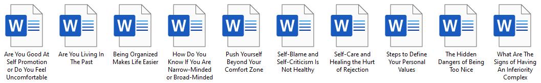 FREE Self Help PLR Articles