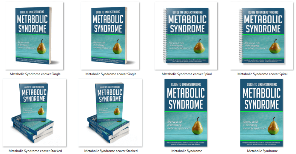 Metabolic Syndrome PLR eCover Graphics