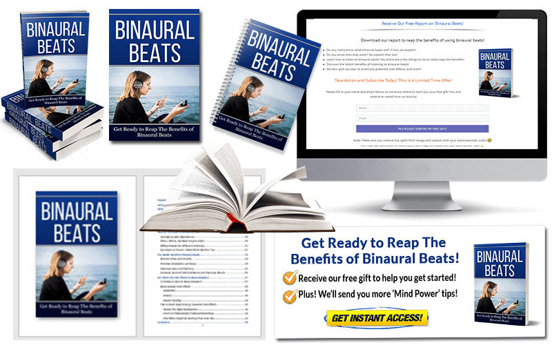Binaural Beats PLR Report and Squeeze Page Pack