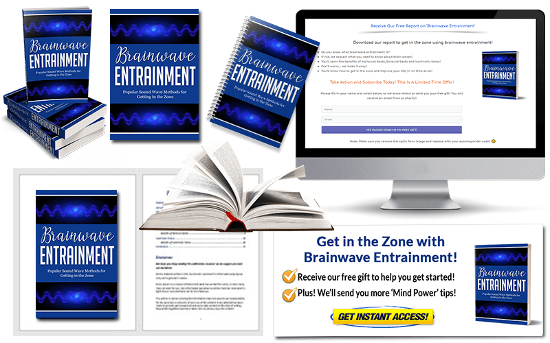 Brainwave Entrainment PLR Squeeze Page and CTA Pack