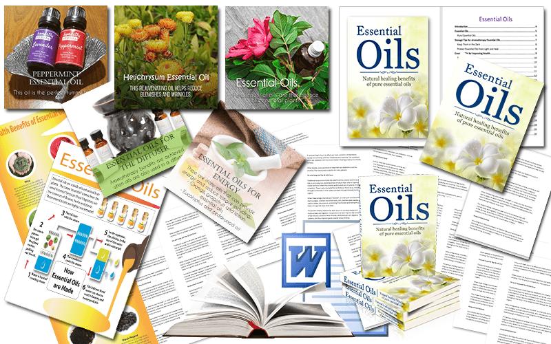 Essential Oils PLR Package