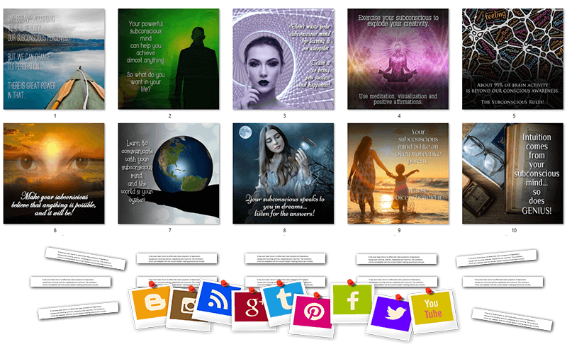Mind Power PLR Social Posts and Posters