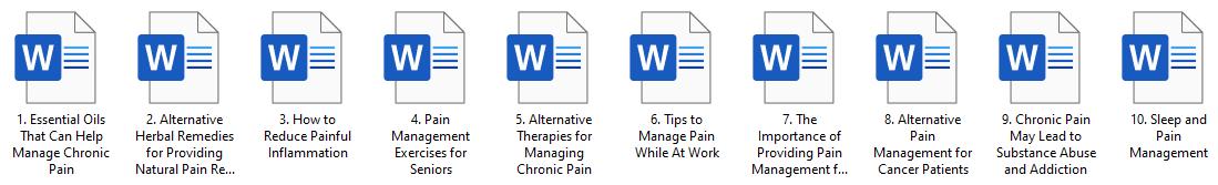 Pain Management PLR Articles