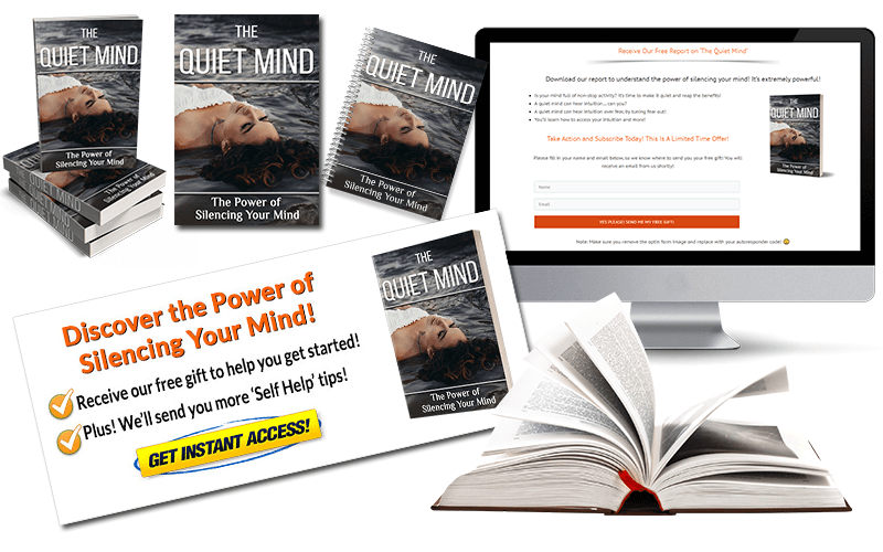 Quiet Mind PLR Squeeze Page and CTA