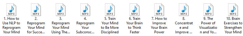 Reprogram Your Mind Audio PLR Articles