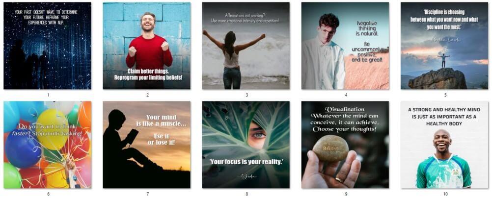 Reprogram Your Mind PLR Social Posters