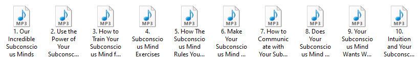 Subconscious Mind PLR Articles - Audio Format