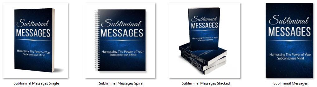 Subliminal Messages PLR Report eCover Graphics