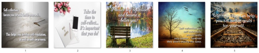 Mindful Self-Reflection PLR Social Posters