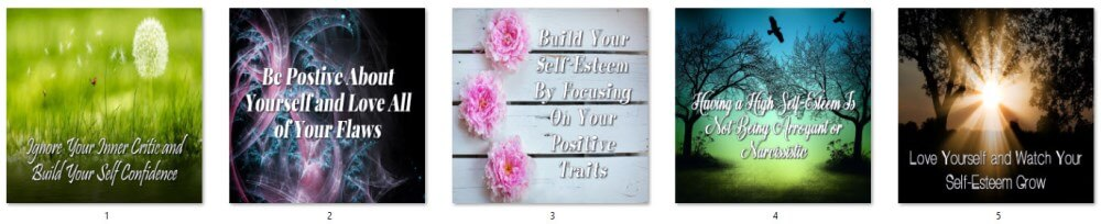 Self-Esteem Social Posters