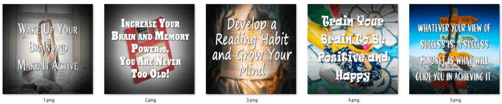 Develop Your Mind PLR Social Posters