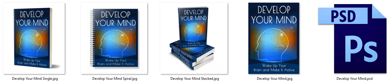 Develop Your Mind PLR eCover Graphics