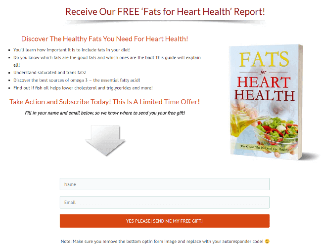 Fats for Heart Health Report Optin Form