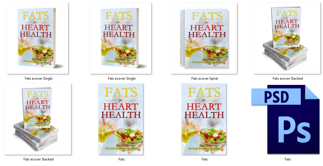 Fats for Heart Health eBook PLR covers