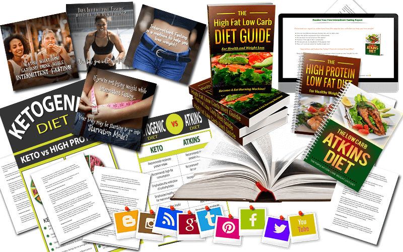 HFLC Diet, HPLF Diet, Atkins, Keto & Fasting Diets PLR Special