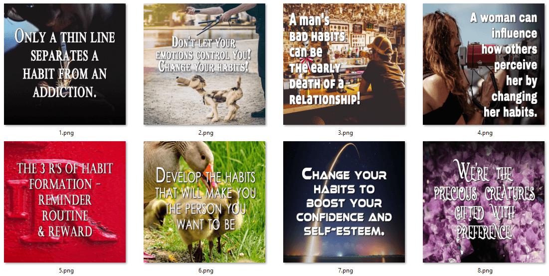 Habits PLR Social Posters