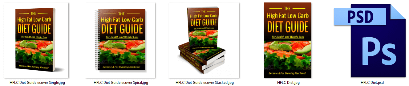 High Fat Low Carb Diet PLR eCover Graphics