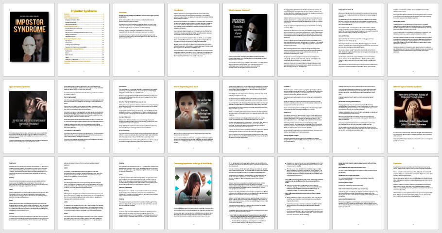 Impostor Syndrome PLR eBook Content