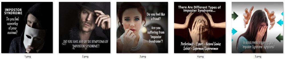 Impostor Syndrome PLR Social Posters