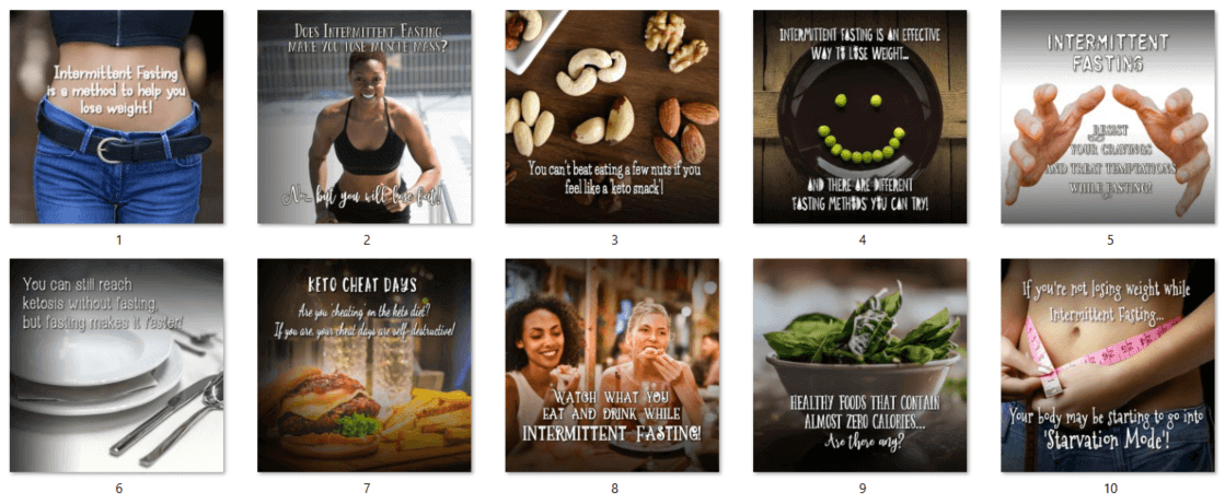 Keto-Diet-and-Intermittent-Fasting-Social-Posters