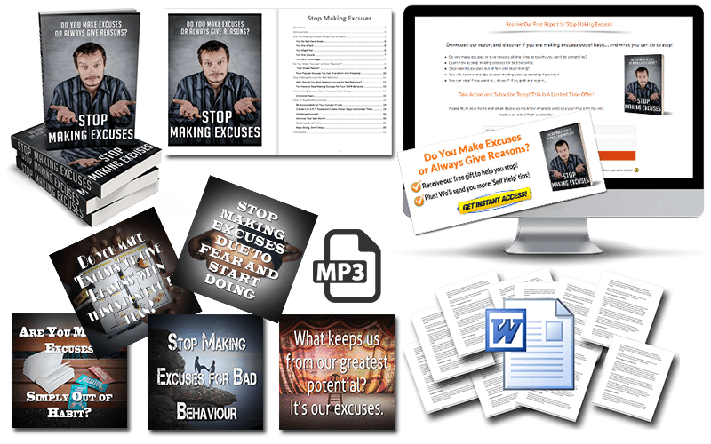 Stop Making Excuses PLR Package