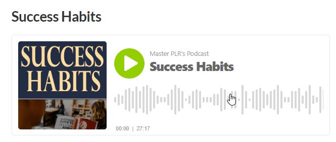 Success Habits PLR Audio eBook
