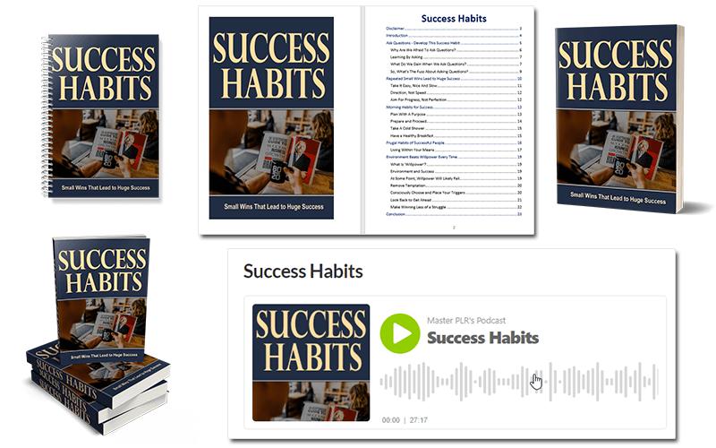 Success Habits PLR eBook and Audio Book