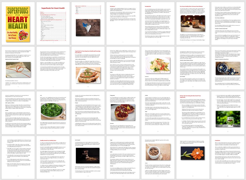 Superfoods for Heart Health ebook PLR
