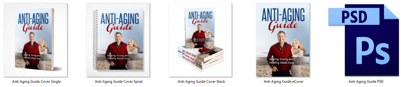 Anti Aging Guide PLR eCover graphics