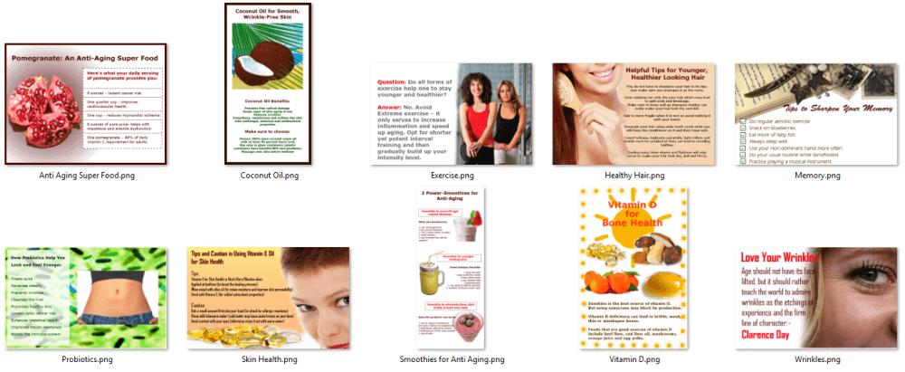 Anti Aging PLR Mini Infographics