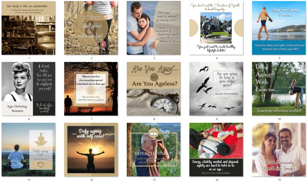 Anti Aging PLR Social Posters