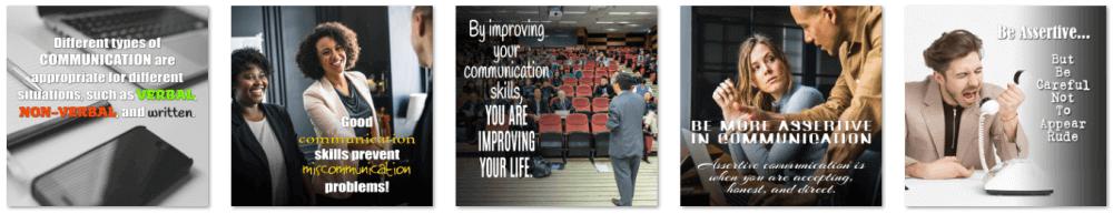 Communication Skills PLR Social Posters