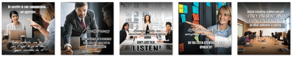 Communication and Listening Skills PLR Social Posters