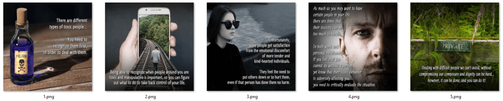 Dealing with Difficult People PLR Social Posters