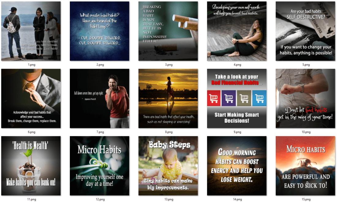 Habit Creation PLR Social Posters