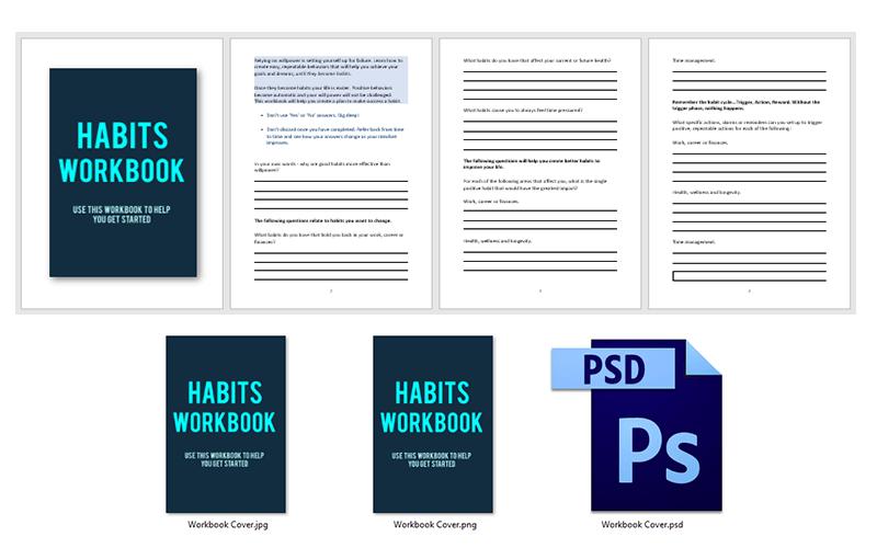 Habits PLR Workbook Pack