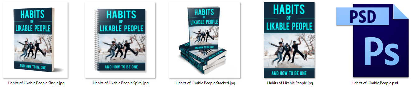 Habits of Likable People PLR Report eCovers