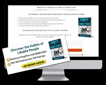 Likable Habits PLR Squeeze Page