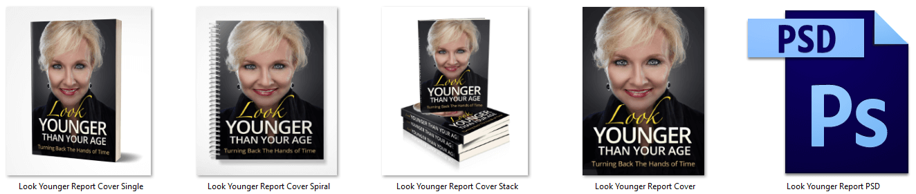 Look Younger Than Your Age PLR report eCover Graphics