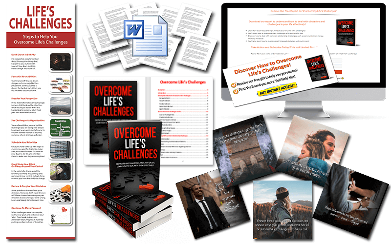 Overcome Life's Challenges PLR Package