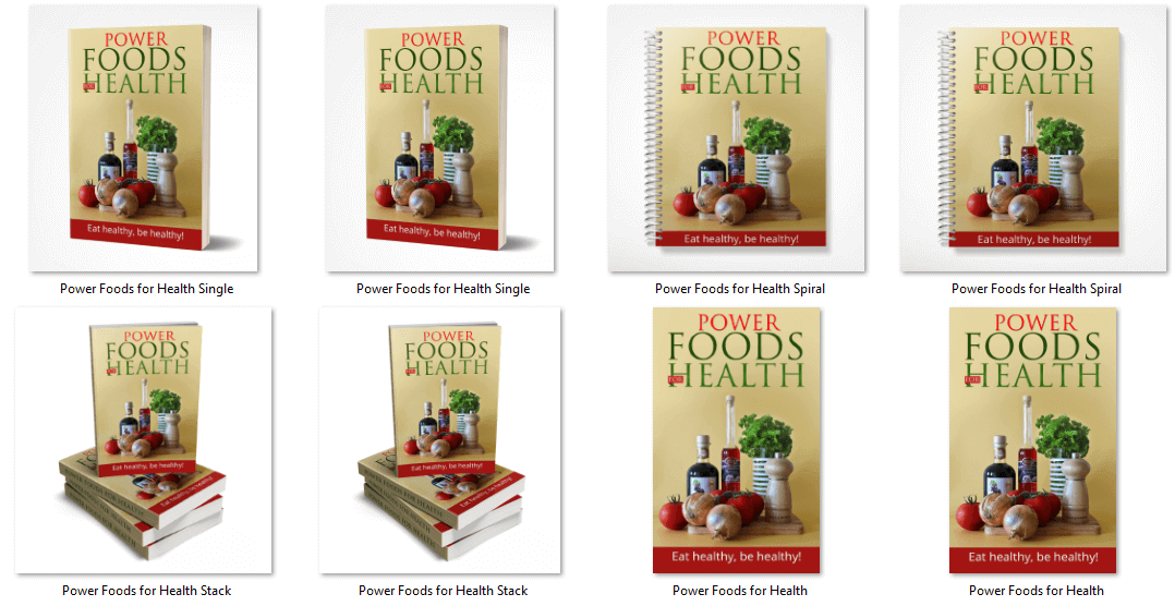 Power Foods for Health eBook Covers