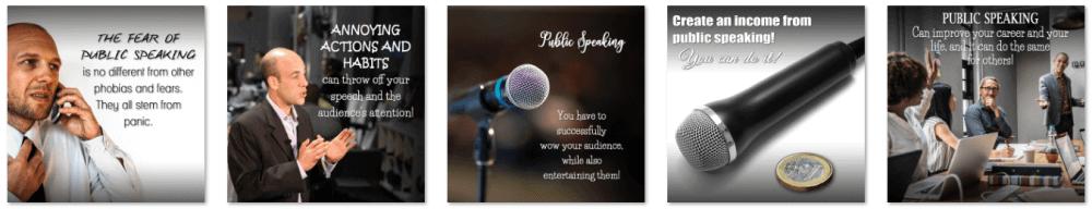 Public Speaking PLR Social Posters