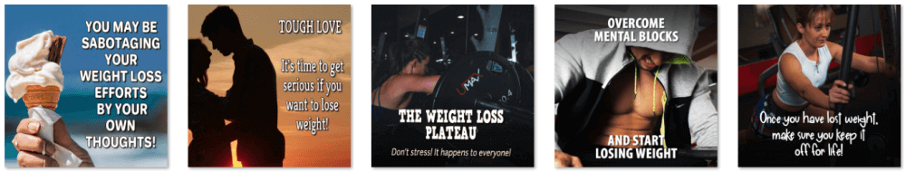 Weight Loss Control PLR Social Posters