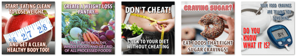 Weight Loss Diet Tips PLR Social Posters