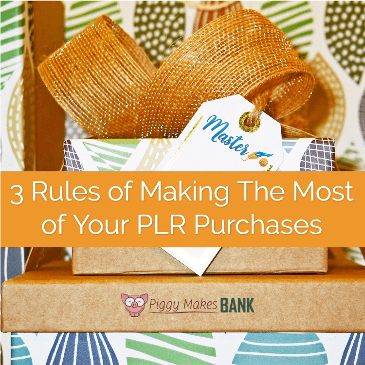 Three Rules of Making The Most of Your PLR Purchases