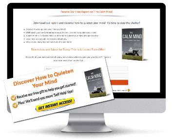 The Calm Mind PLR Squeeze Page and CTA Graphics