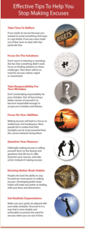 Excuses PLR infographic