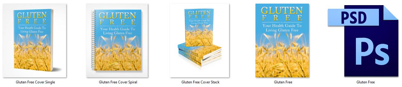 Gluten Free PLR eCover Graphics
